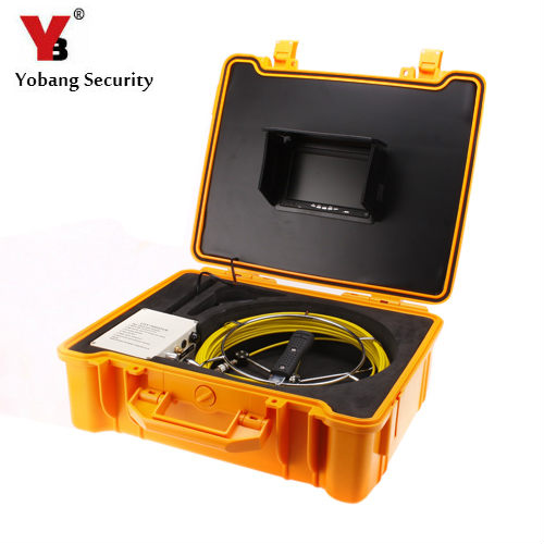 YobangSecurity Pipe Inspection Camera Sewer Inspection Camera HD 1000 TVL Fiber Glass Cable with 7''Digital Screen DVR Recording кабель lifesize link cable 15m phone 2nd generation with icon or digital micpod 1000 0000 0759