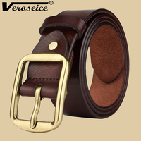 TG Cow Leather Mens Belt With Fashion Metal Buckle Pin Real Leather Top Designer High