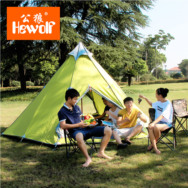 Good Quality Outdoor Camping Tent Double Layer Gazebo 5-8 Person Sun Shelter 4 Season Beach Tent Ultralight Party Tent large outdoor camping pergola beach party sun awning tent folding waterproof 8 person gazebo canopy camping equipment