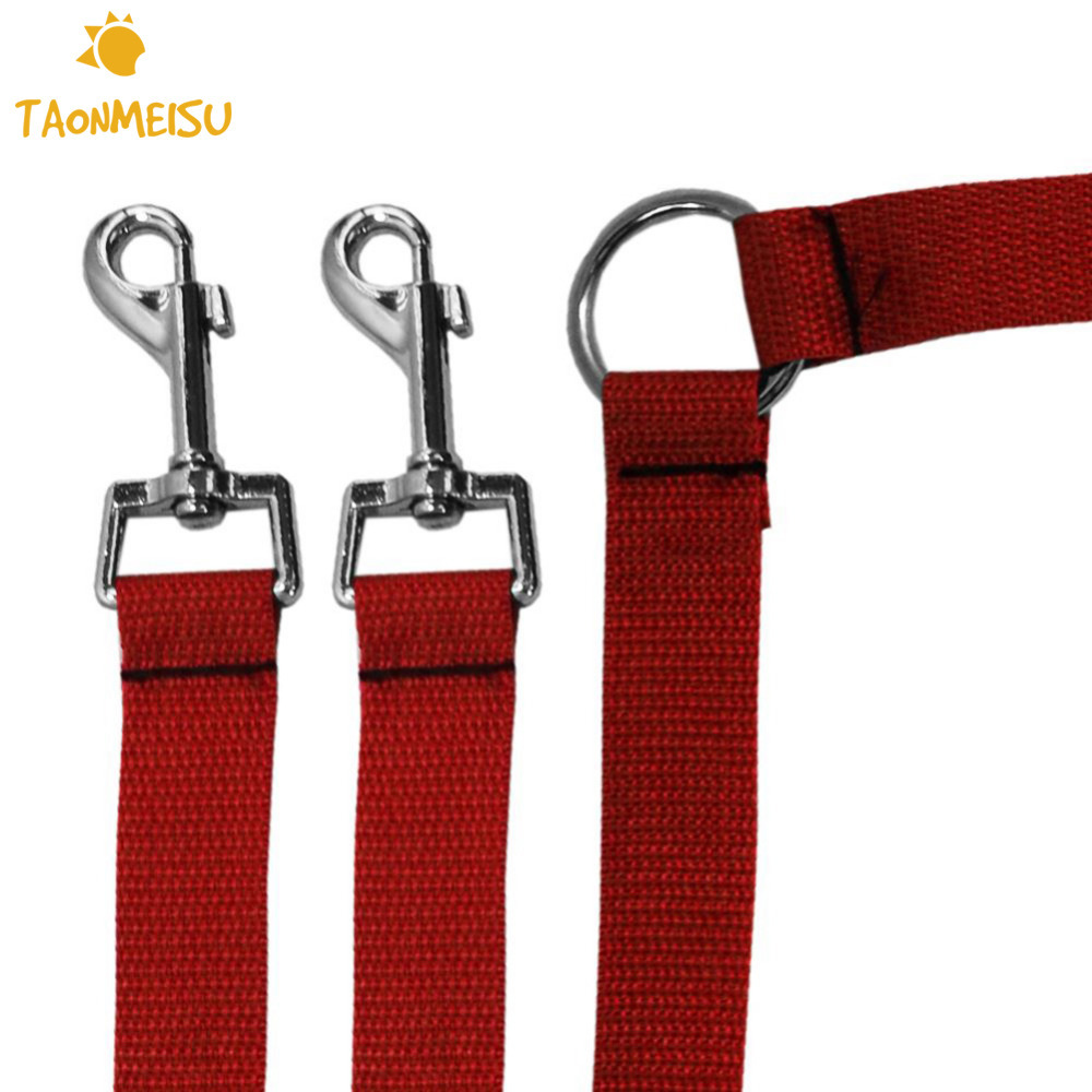 New Strong Nylon Double Dual Coupler Animale de companie Dog Leash 2 Way Animale de companie Puppy Safety Walking Oportunități de formare