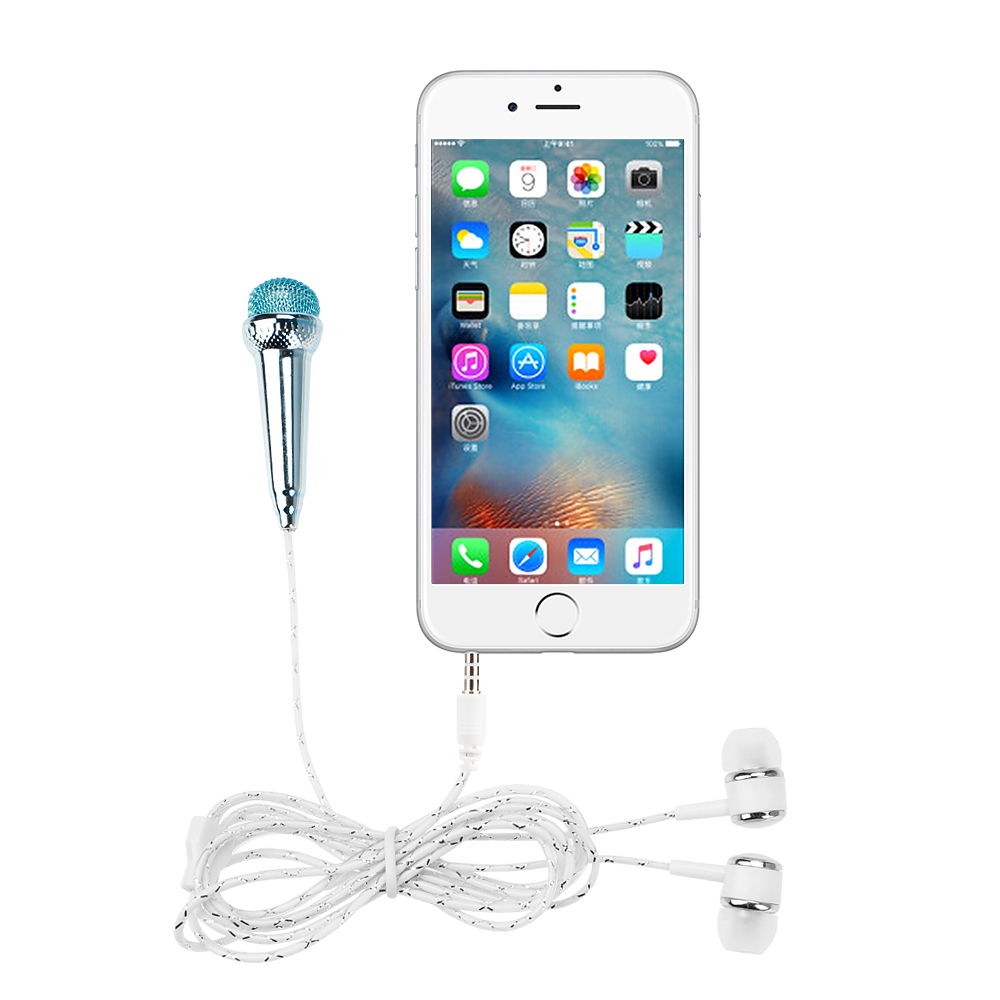 Microphones microphone for phone earphone kit music sound recorder smartphone wire karaoke microphone mini for phone (6)