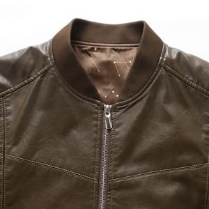 Image 4 - אמיתי עור מעיל גברים מעילי אמיתי כבש מותג שחור זכר אופנוע עור מעיל חורף מעיל בתוספת גודל 10XL 8XL 6XL
