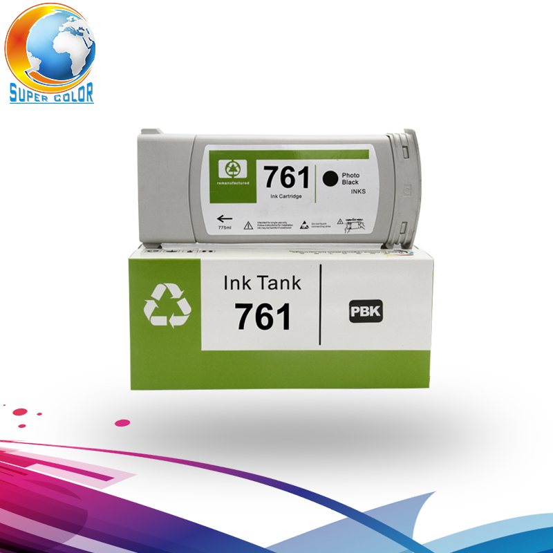 For hp 761 Original Remanufacture Compatible Ink Cartridge For HPT7100 T7200 With Original pigment Ink hp 761 cm994a cyan