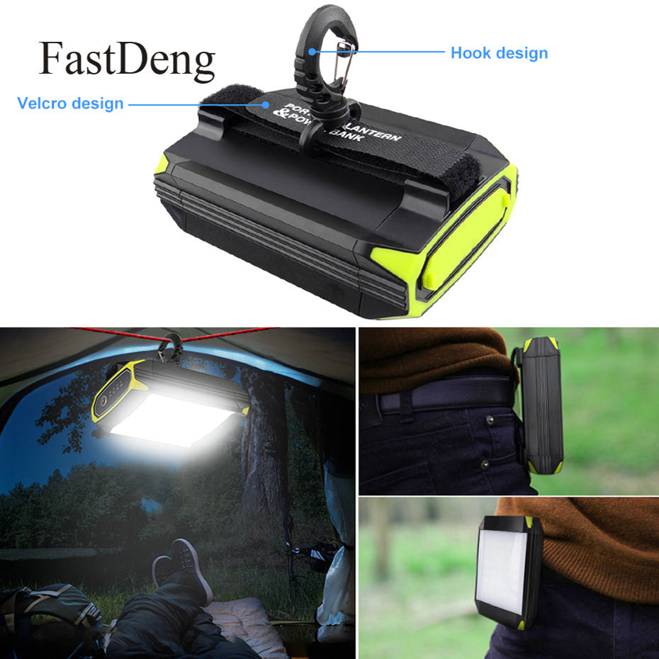 Flasher Mobile Power Bank Flashlight USB Port Camping Tent Light Outdoor Portable Hanging Lamp 30 LEDS Lantern Camping Light
