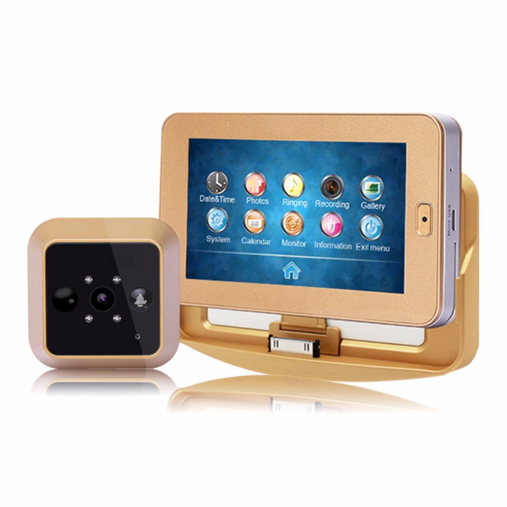 Wireless Door Viewer 4.3inch HD Touch Screen Auto Voice Reminder Smart Door Peephole Camera Infrared Night Version F1426D 19 inch infrared multi touch screen overlay kit 2 points 19 ir touch frame
