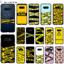 Lavaza Warning Soft Case for Galaxy Note 8 9 S7 edge S8 S9 S10 Plus S10e M10 20 30 Cover