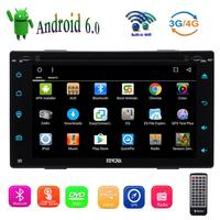 Android 6.0 4Core 6.2 inch 2Din Car DVD Player Stereo Radio Touchscreen GPS Wifi