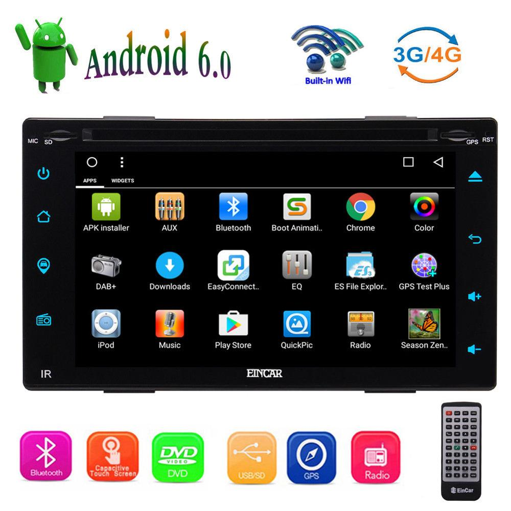 Android 6.0 4Core <font><b>6.2</b></font> <font><b>inch</b></font> <font><b>2Din</b></font> Car DVD Player Stereo Radio Touchscreen <font><b>GPS</b></font> Wifi image