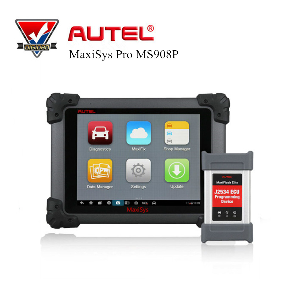 Autel MaxiSys Pro MS908P Automotive Diagnostic Tool Scanner + ECU Programming and J2534 Reprogramming Function Wifi Bluetooth