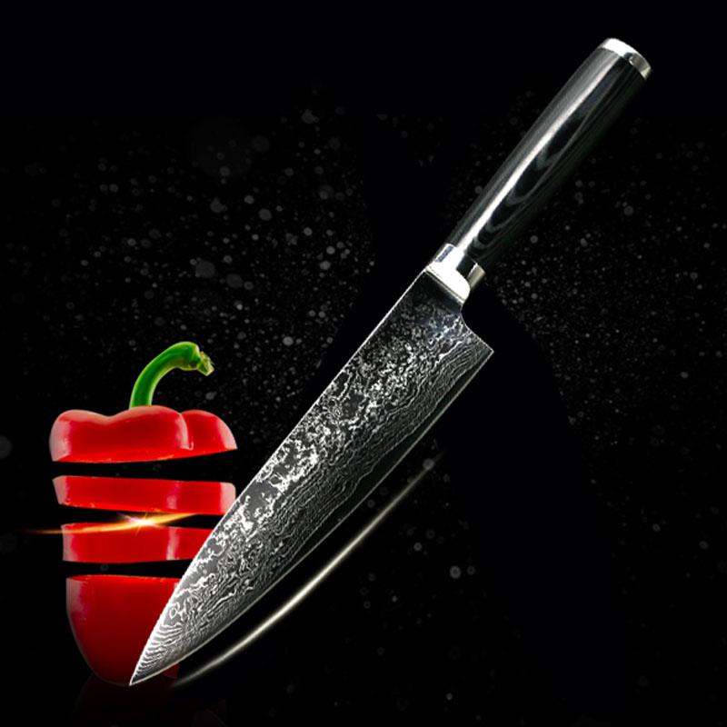 8inch damascus knife