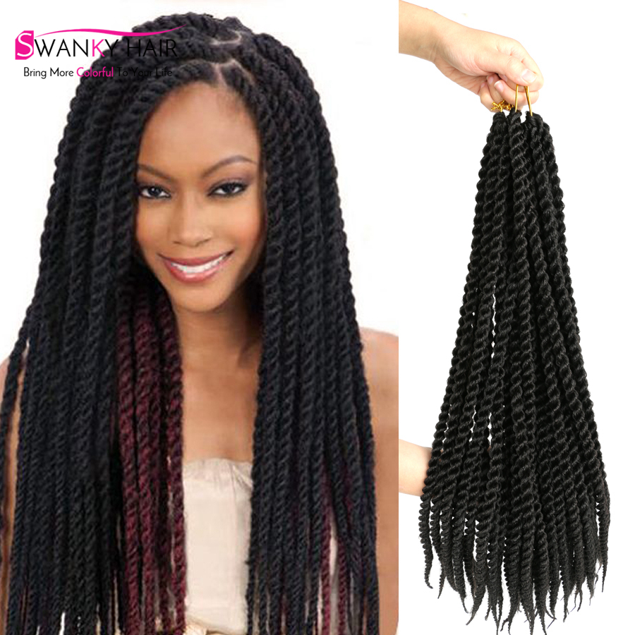 Quality Products Crotchet Braids Faux Locs Crochet Twist Hair 22 Inch 85G/Pack 12Roots/Pack ...
