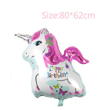 Free shipping 80*62cm minecraft my cute lovely little horse poni Unicorn doll balloon  christams day  Birthday Balloons