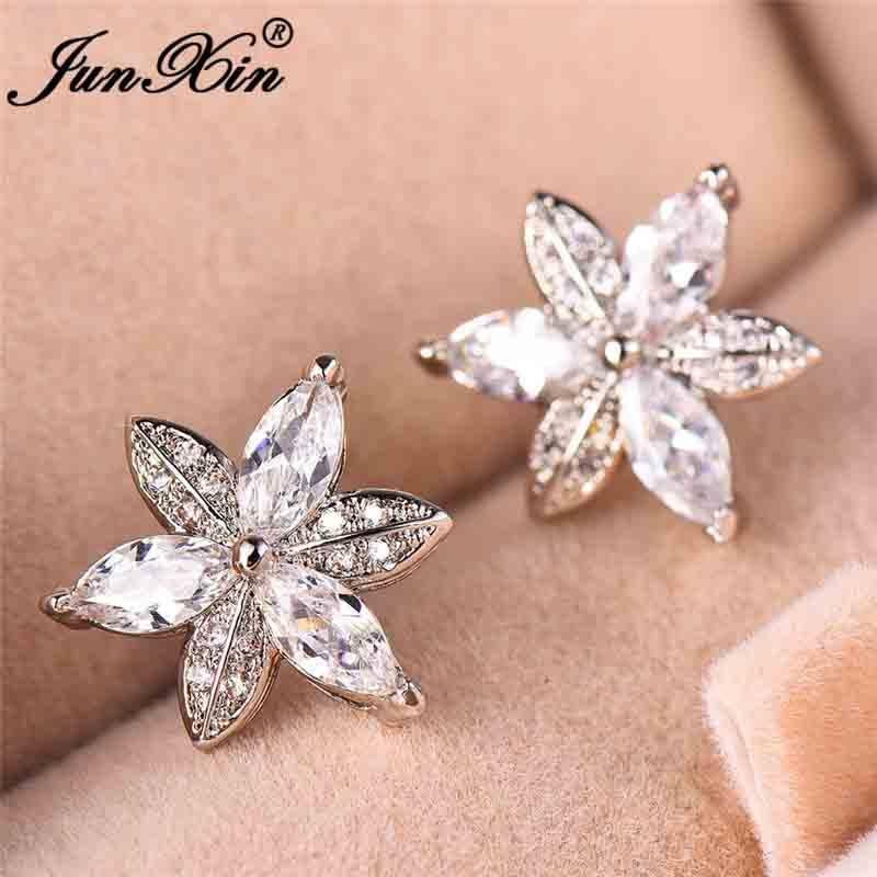 Cute Fruit Shape Stud Earrings Dainty Crystal Studs Earring Jewelry for Women Teen Girls Cnebo Womens Cubic Zirconia Rhinestone Earrings