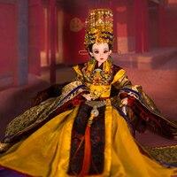 14 ручной работы Коллекционная Китайский Куклы Винтаж императрица Ву цзэтянь кукла высокого класса BJD девушка Куклы рождественские подарки