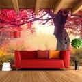 Пользовательские 3D стереоскопический большой росписи идиллический лес фон гостиная спальня уютное кафе украшение пейзаж 3D обои