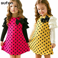 Girl Dress Baby Kids Clothes 2017 New Fashion High Quality Cotton Spring Autumn Bow Long-sleeve Girls Princess Dress 3-7Y