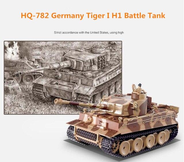Simulation super large germany main battle tank HQ-782 shooting BB bullet full functioning Panzer Model radio control RC battle