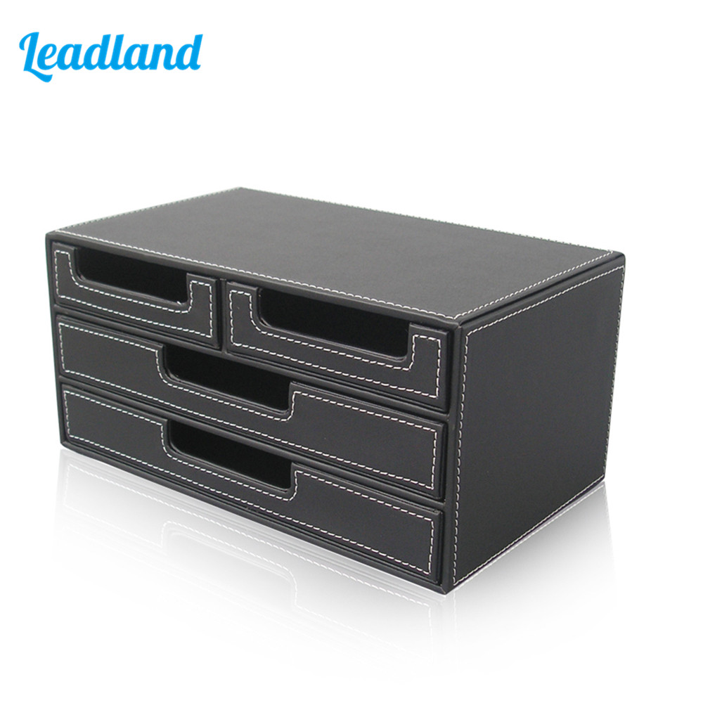 3 Layers 4 Drawers Document Tray File Organizer Cabinet Stationery Box For Office & School Organization