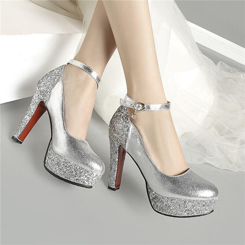 LAPOLAKA 2019 dropship big size 32 43 Bride Bridesmaid women shoes pumps high heels gold silver red pumps shoes woman