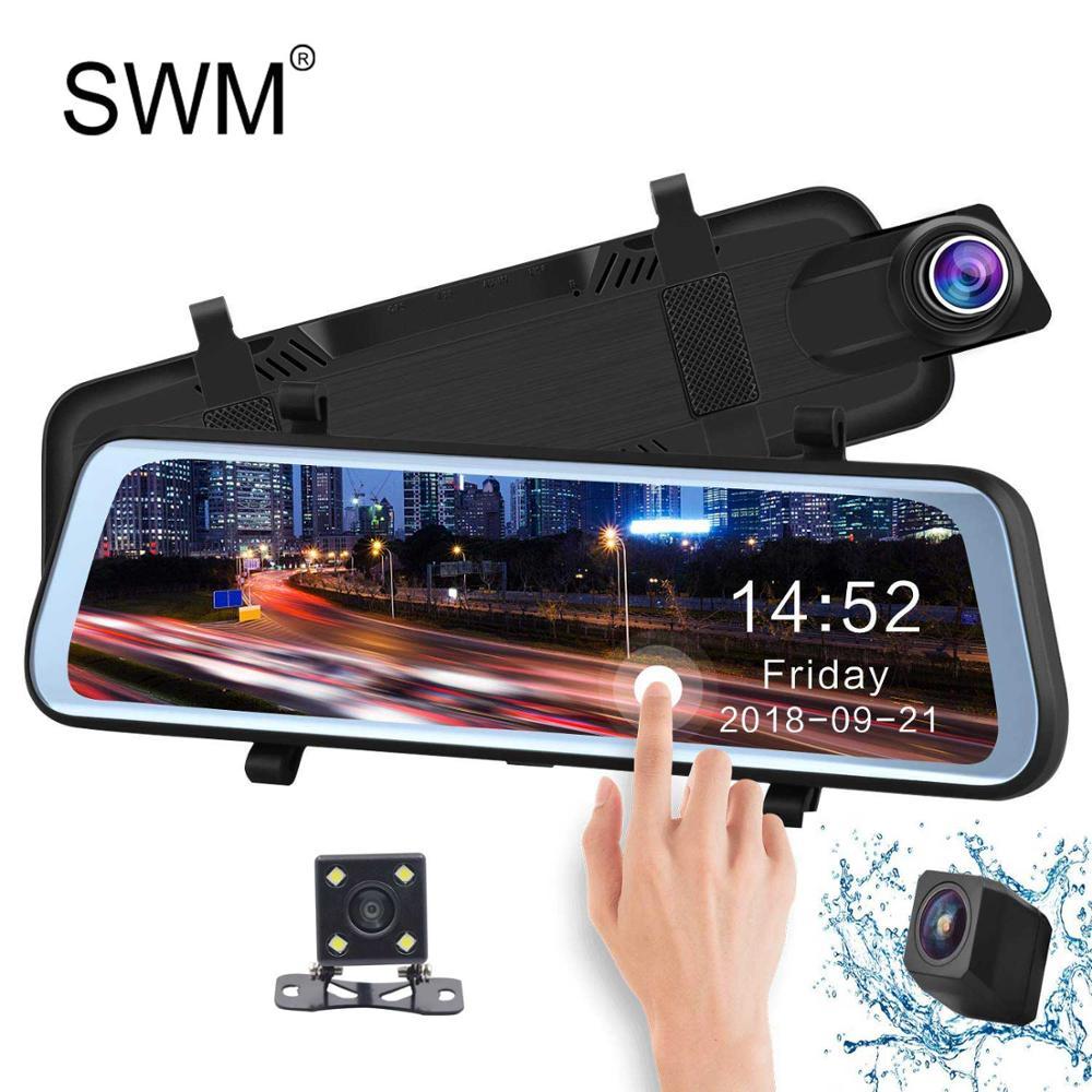 Car Camara Para Auto DVR Video Recorder Dash Cam Reverse Camera Mirror Digital Night Vision Camcorder