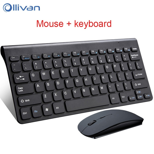 636bf67d74e Ollivan 2.4G Mini Wireless Keyboard And Optical Mouse With Multimedia  Function Key Mouse Kit For Desktop Laptop Home PC Computer