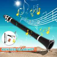 Mini Bb B Clarinet Plain Clarinet with Cleaning Cloth Reeds Wind Instrument for Beginner Practice Carry Bag Woodwind Instruments