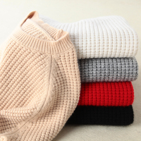 Long Cashmere Kintted Sweater Women Oversized Winter Sweater Pullover Female Plus Size Jumper Pull Femme Tops With Corn Kernels