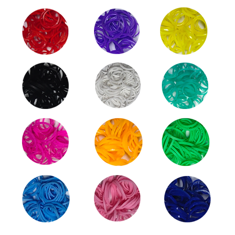 300pcs Rubber Loom Bands DIY Toys Lacing Bracelet For Kids Or Hair Rubber Bands Refill Make Woven Bracelets Girls Gift Wholesale