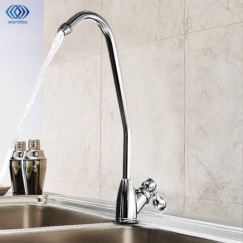 Chrome Finish Reverse Osmosis Drinking Water Filter Sink Faucet Single Handle Water Purifier Tap Suitable For Kitchen