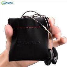 HANGRUI Headphones Case PU Leather earphone Bag Waterproof Carrying Pouch Storage Earphones Box case For headphones USB cable