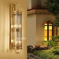 B352 6 Европейский 6 голове все Медь открытый настенный светильник Hotel светодио дный бра Двор Сад Водонепроницаемый осветительное оборудовани