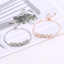 Bohopan Elegant Fashion Women Bracelets Delicate Round Rhinestone Bracelets Bangles Adjustable Telescopic Bracelet Jewelry Trend все цены