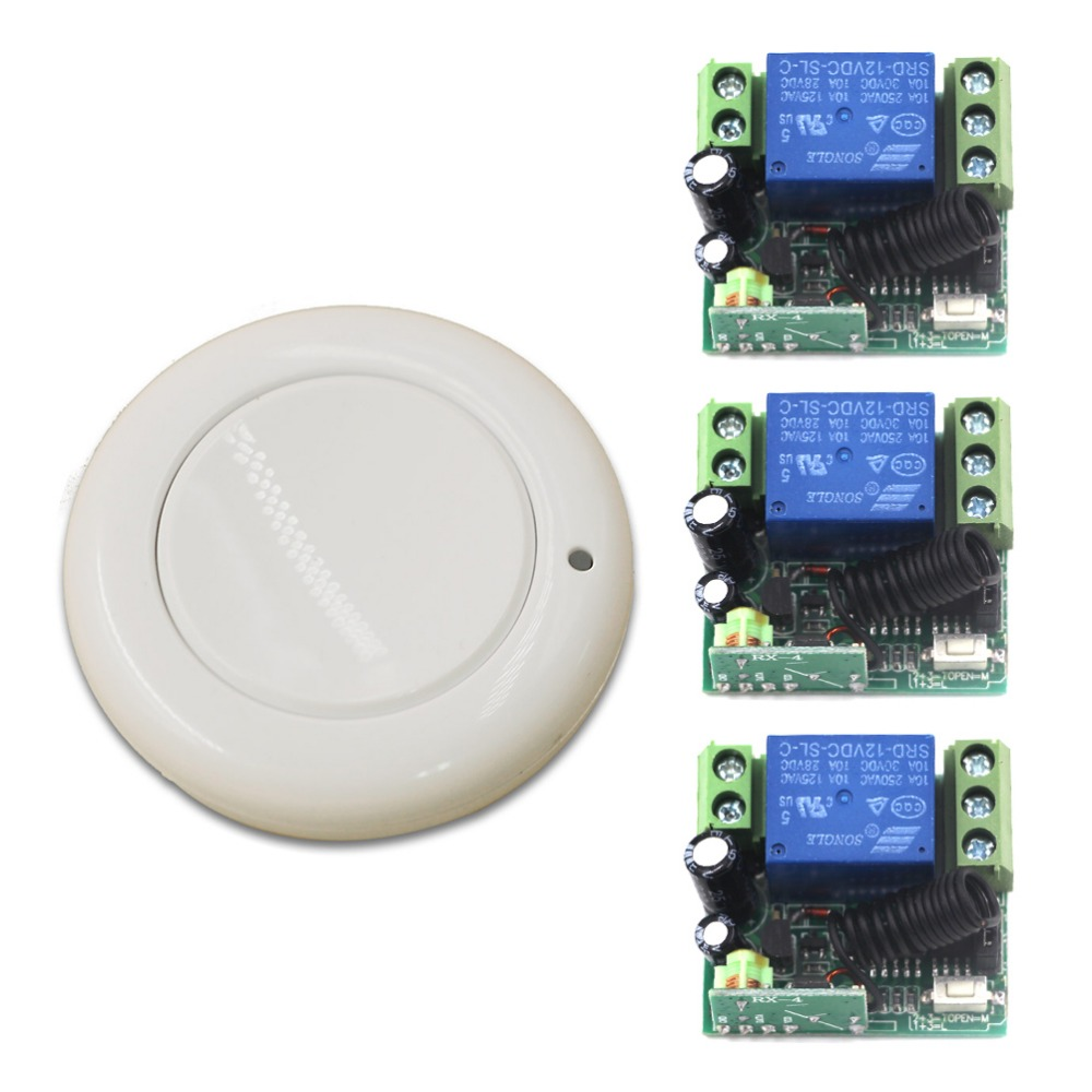DC12V 1CH Wireless Remote Control Switch System, Gate Door Opener Operator Remote Control Relay Switch, Automatic D