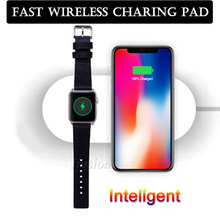 Qi Wireless Charger For iPhone X 8 8plus 7.5W Fast Charging Pad For Apple Watch 3 2 AirPower Charge For SumsangS6 S7edge S8 S8P