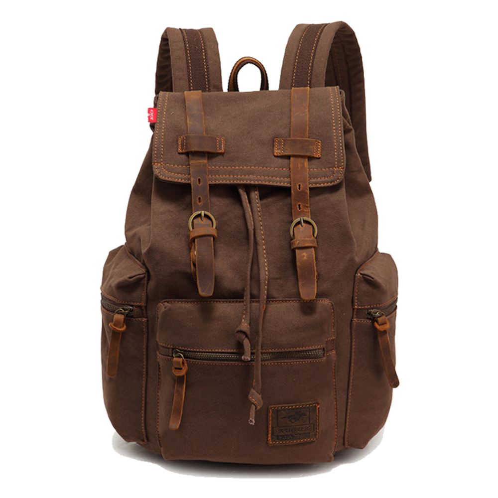 Genuine Leather Canvas Backpack Men,Military Backpack,Girls Vintage School Backpack,Women Laptop Backpack Bag,Rucksack free shipping superior quality contactor cjx2 0910 9a ac 220v 3p no contactor cjx2 09 lc1 d09 series 220vac ac contactor