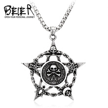 Skull Pendant Hot-Product Trending Necklace Jewelry 316l-Stainless-Steel Beier LLBP8-101P