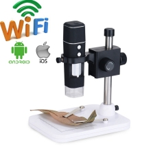 Buy Portable 500x WiFi Video  Microscope Digital Electron USB Microscope Soldering with 8LED for Phone Watch Repairing with Stand