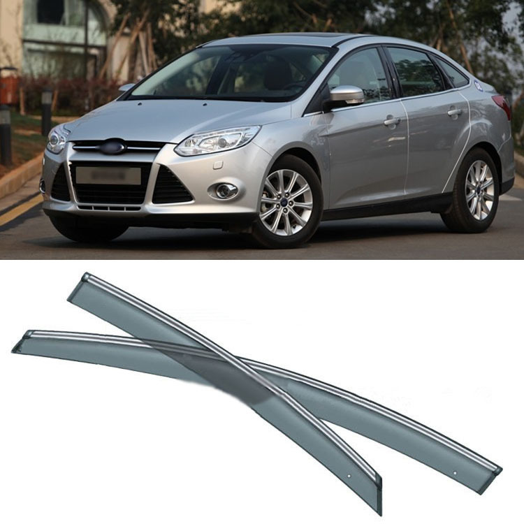 Jinke 4pcs Blade Side Windows Deflectors Door Sun Visor Shield For Ford Focus 2012-2013 hanro бюстгальтер