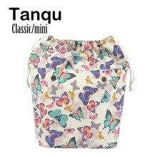 Tanqu nova grande capacidade clássico mini cordão colorido forro interno inserção para grande mini obag lona bolso interno para o saco