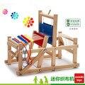 XL um Brinquedos Pretend Play Brinquedos De Madeira Do Bebê Brinquedo Educativo De Madeira Artesanato Em Madeira máquina de Tecelagem Tear Tradicional presente