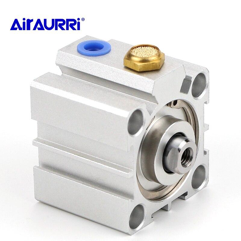 Cilindro compacto da série de ssa único atuando-impulso furo 16 20 25 32 40 50 63 80 curso 5mm 10mm 15mm 20mm 30mm 40mm 50mm
