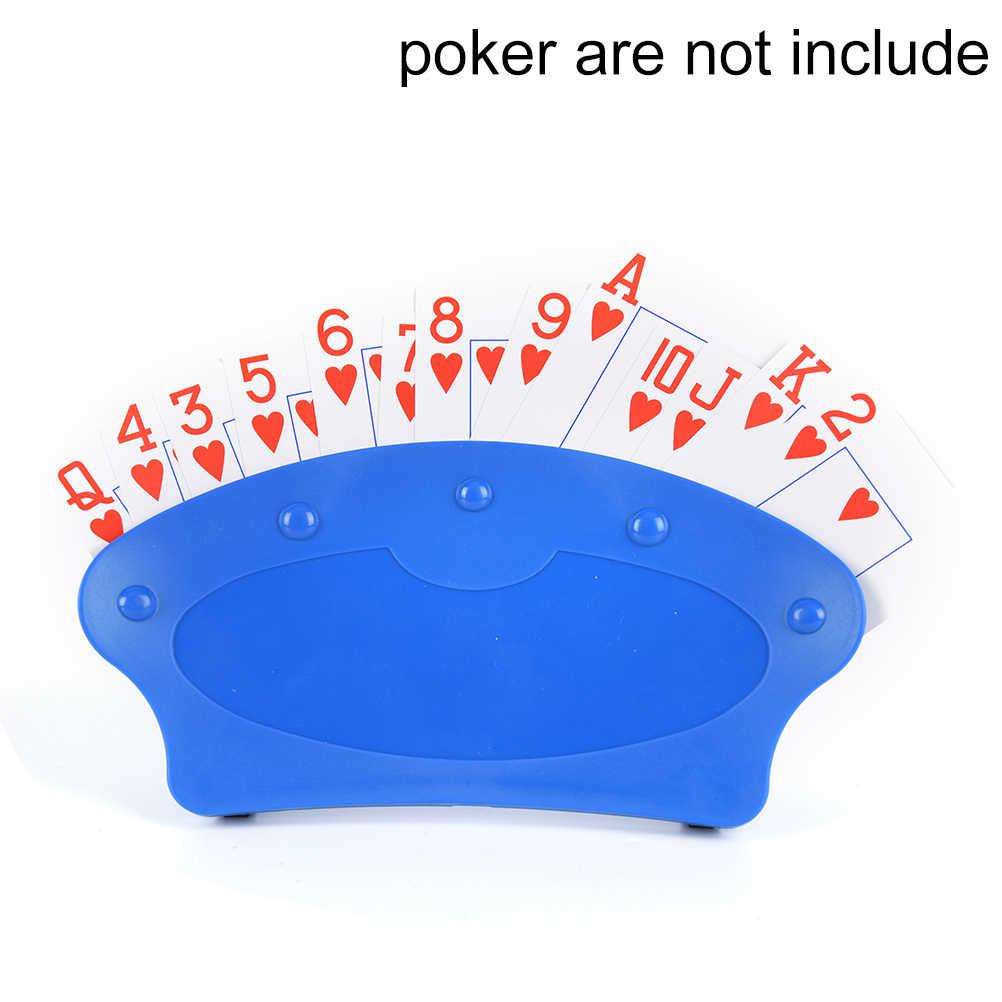 Nowy poker siedzenia karty do gry stojak karty do gry posiadacze leniwy pokera podstawowej wersji gry organizuje ręce, umożliwiający łatwą grę w urodziny party 1pc
