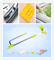 Upgraded Telescopic High rise Window Cleaning magic Glass Cleaner Brush and gloves For Washing Window Dust Brush window cleaner