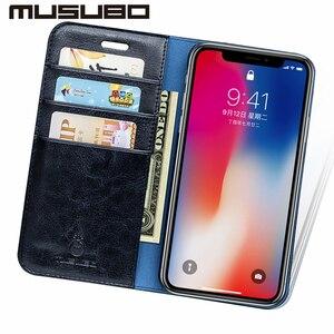 Image 5 - Estuches de cuero de lujo Musubo para iphone 11 XS Max cartera teléfono bolsa soporte Funda abatible para iphone XR 8 funda protectora Plus 7 6