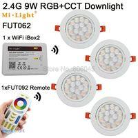 FUT062 AC85 265V Milight 9W RGB + CCT WiFi Kompatibel LED Decke Scheinwerfer 2 4G Wireless 4 Zone Fernbedienung android/iOs APP Steuer|milight 9w|android remotecontroller control -