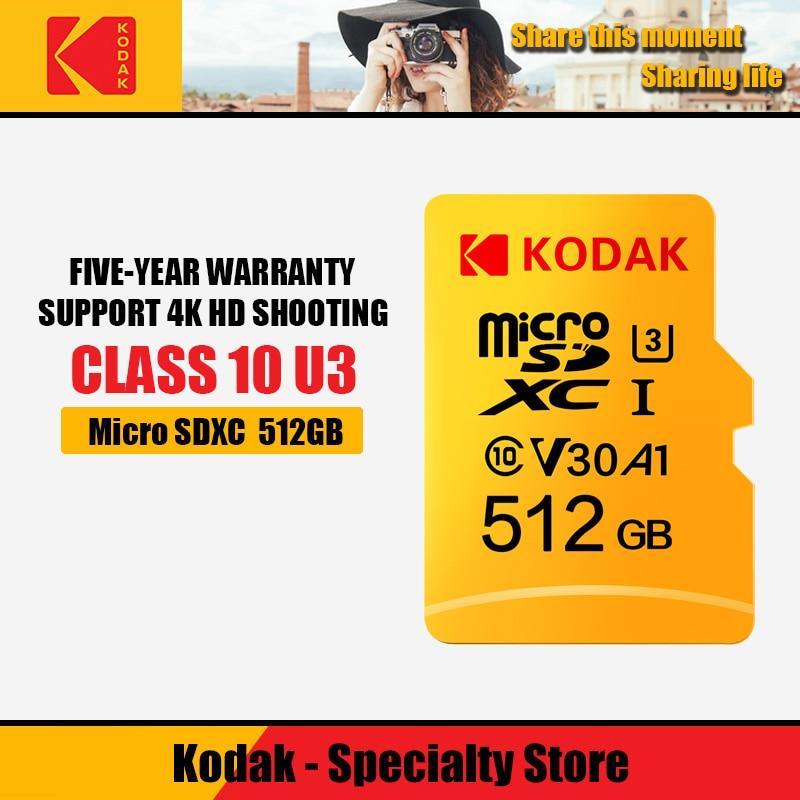 Cartes mémoire d'origine Kodak 512 GB U3 Class10 Micro carte SD microSD UHS-I carte TF 512 gb SDXC C10