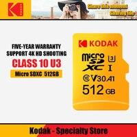 Original Kodak Memory Cards 512GB U3 Class10 Micro SD Card microSD UHS I TF Card 512gb SDXC C10