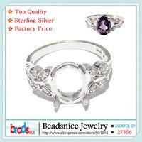 Beadsnice ID27356 descobertas jóias diy borboleta anel de prata 925 atacado semi montar ajustes do anel sem pedras