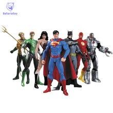 Avenger Super Hero Action Figure Marvel Figurine Super Man Batman Flash Wonder Woman DIY Anime Hero Model Toy Brinquedo 7pcs/set