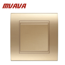 Free shipping MVAVA 1 gang Electrical light wall switch Hot Sale Decorative champagne gold safety fire resistant Panel 16A 250V